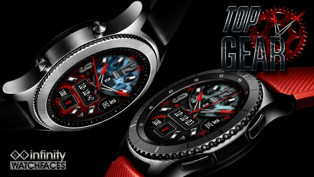 Top Gear Watch Face Samsung Gear S3 S2 red black