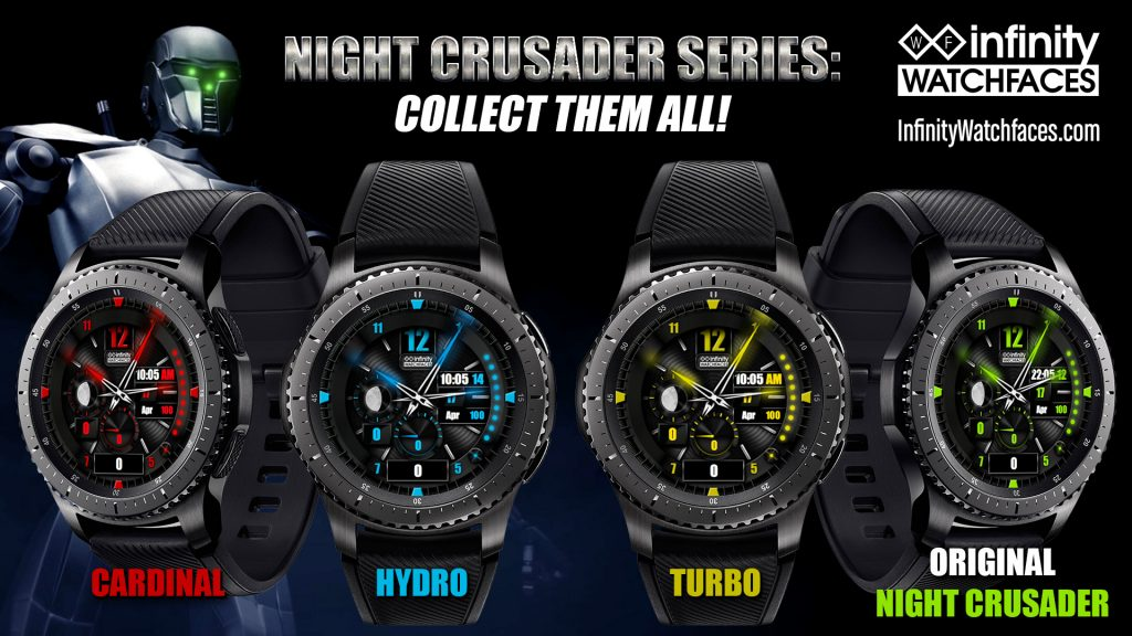 Watch Face Samsung Gear S3 Gear S2 Night Crusader Series