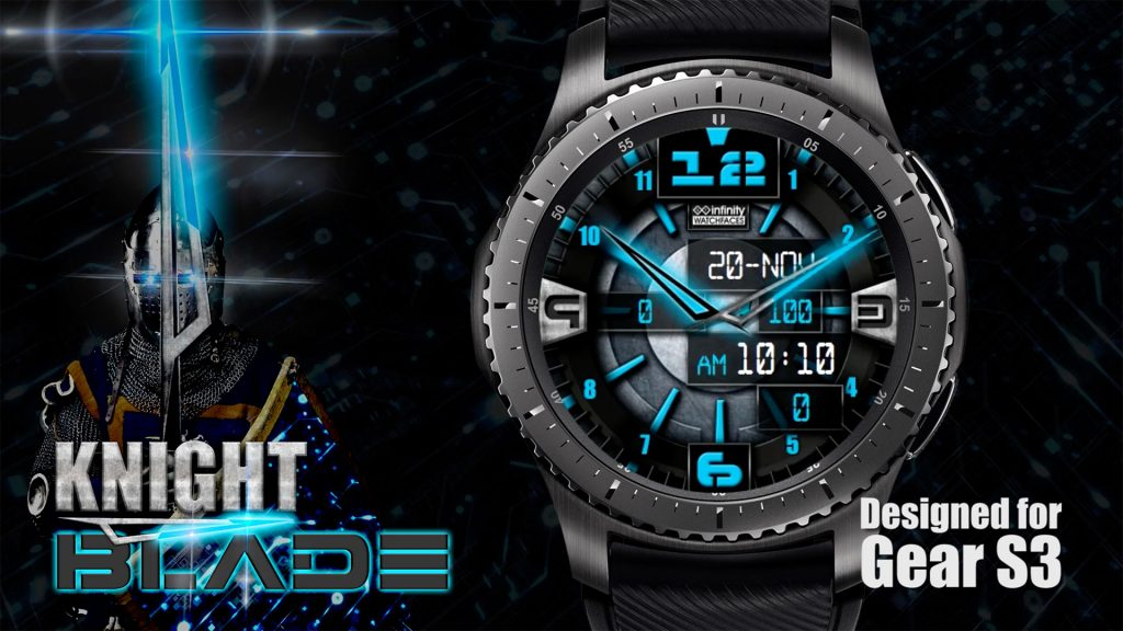 knight blade watch face samsung gear s3