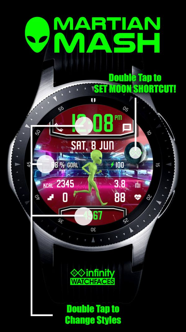 Martian Mash Alien Watch Face for Samsung Galaxy Watch and Galaxy Active