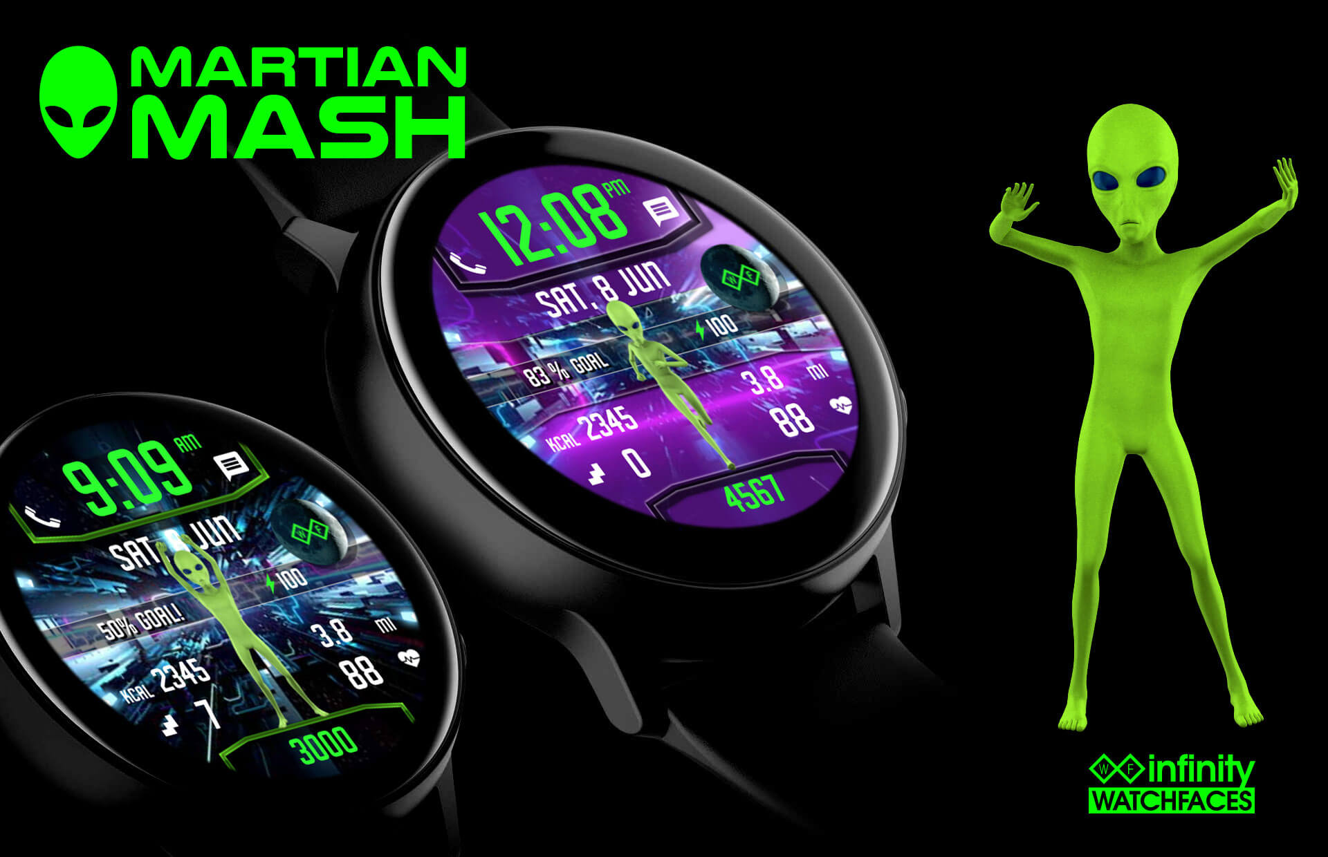 Martian Mash Infinity Watchfaces