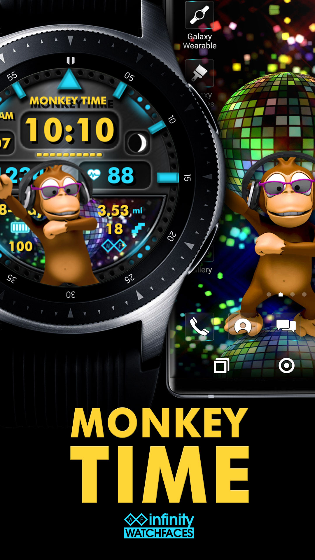 Samsung Galaxy Watch Faces & Galaxy Themes | Infinity Watchfaces