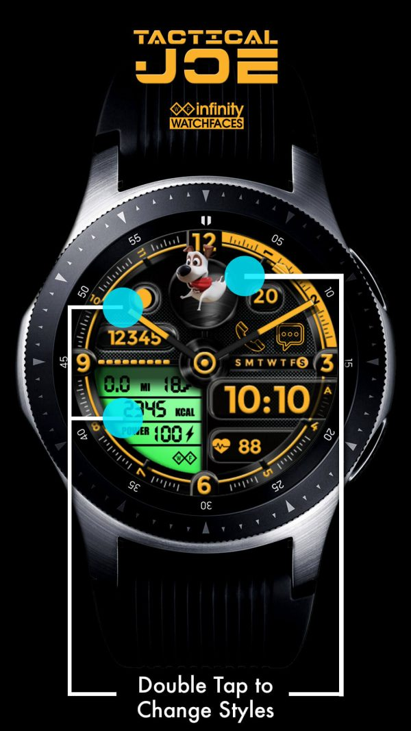 Tactical Joe Dog Watch Face for Samsung Galaxy Watch and Galaxy Active
