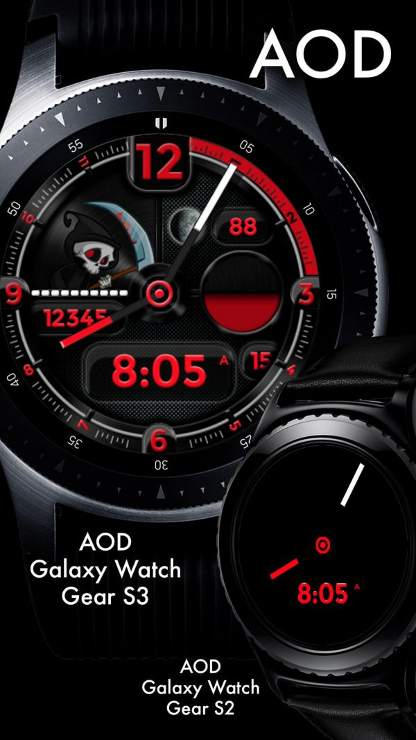 Reap Grim Reaper Watch Face for Samsung Galaxy Watch and Galaxy Active