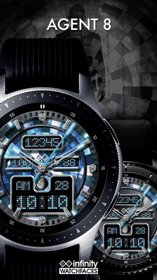 Agent 8 watch face for Samsung Galaxy Watch and Galaxy Active