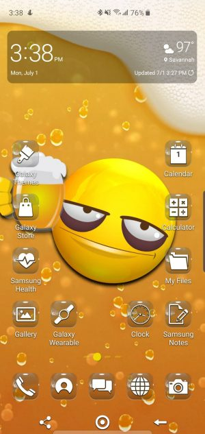 Beermoji Theme for Samsung Galaxy S10 and Galaxy Note 10