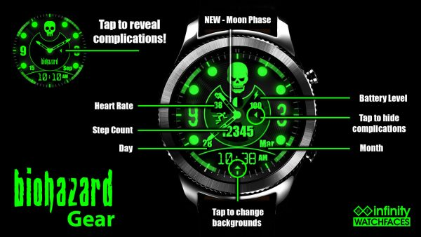 Biohazard Free Watch Face for Samsung Galaxy Watch and Galaxy Active