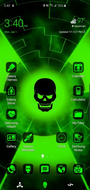 Biohazard Theme for Samsung Galaxy S10 and Galaxy Note 10