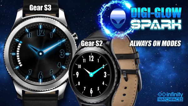 Digi-Glow Best Watch face for Samsung Galaxy Active and Galaxy Watch