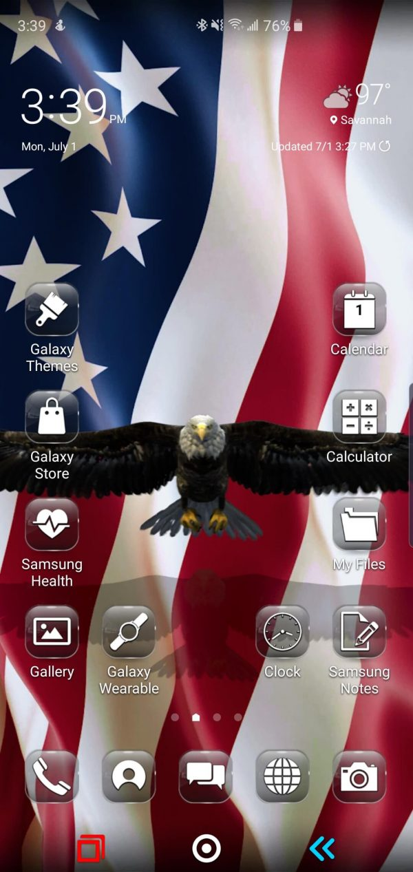 Freedom Flight USA Theme for Samsung Galaxy S10 and Galaxy Note 10