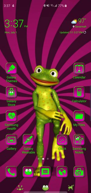 Frog Theme for Samsung Galaxy S10 and Galaxy Note 10