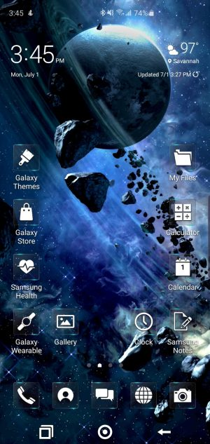 Hyperdrive Space Theme for Samsung Galaxy S10 and Galaxy Note 10