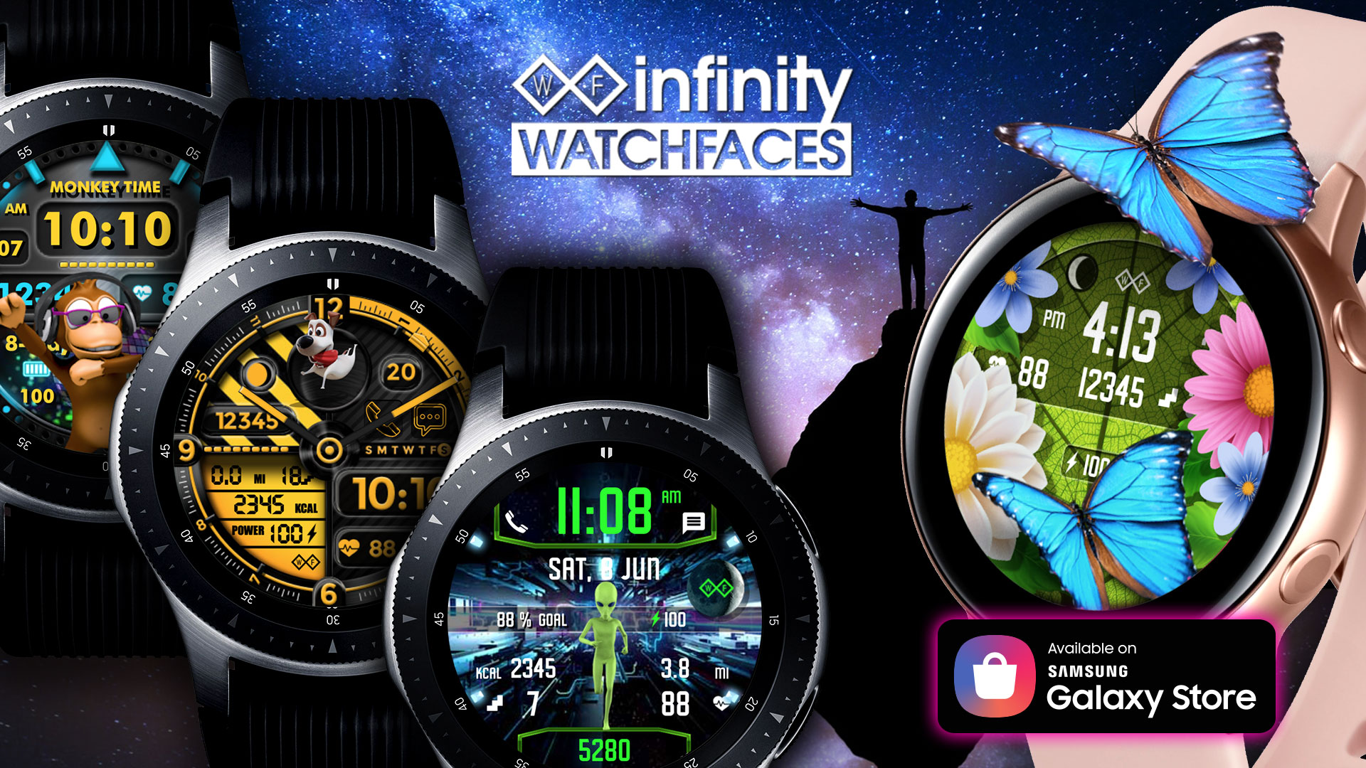 Samsung Galaxy Watch Faces Galaxy Themes Infinity Watchfaces