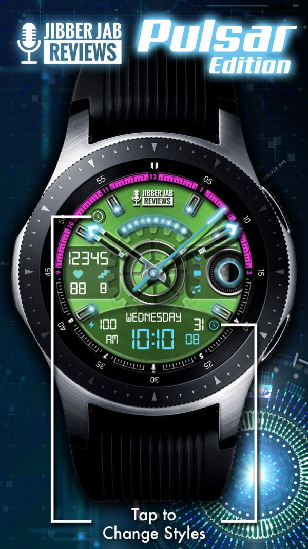 Pulsar Edition Watch Face for Samsung Galaxy Watch and Galaxy Active