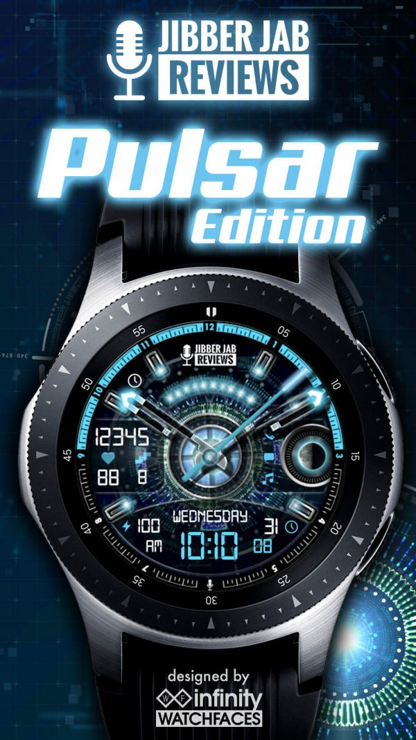 Pulsare Edition Watch Face for Jibber Jab Reviews Samsung Galaxy Watch and Active