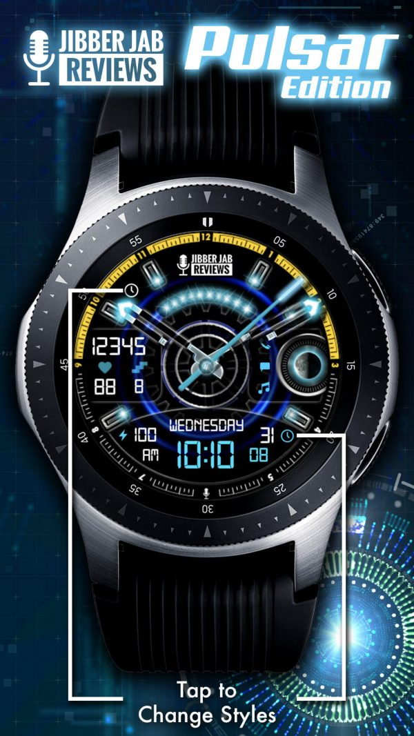 Pulsar Edition Watch Face for Samsung Galaxy Watch