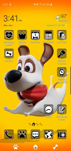 Joe Dog Theme for Samsung Galaxy S10 and Galaxy Note 10