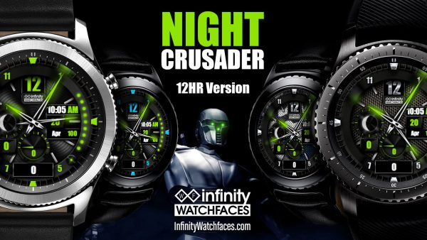 Night crusader Watch Face for the Samung Galaxy Watch