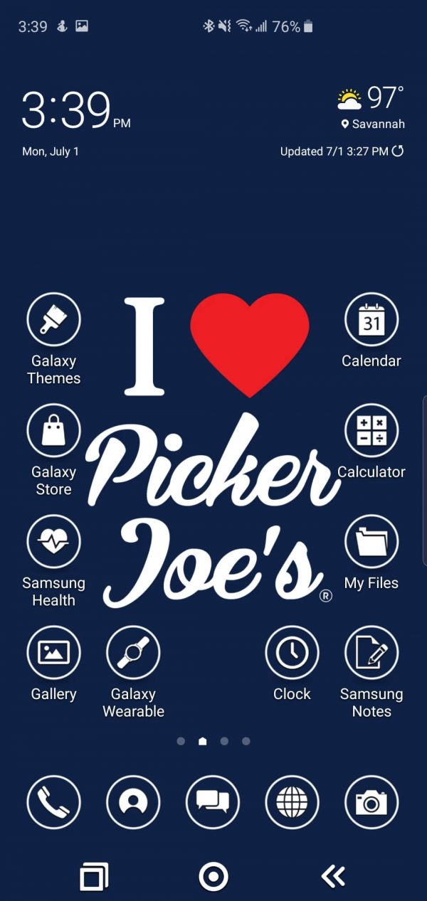 Picker Joe's Theme for Samsung Galaxy S10 and Galaxy Note 10