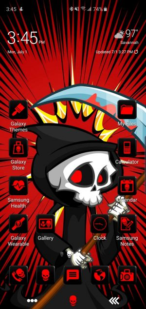 Reap Theme for Samsung Galaxy S10 and Galaxy Note 10