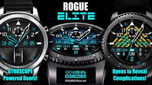 Rogue Elite Watch Face for Samsung Galaxy Watch and Galaxy Active