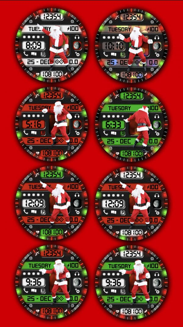 Best Christmas Watch Faces santa shuffle for Samsung Galaxy Watch and active