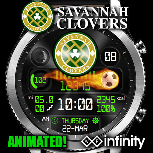 Savannah Clovers Watch Face for Samsung Galaxy Watch and Galaxy Active