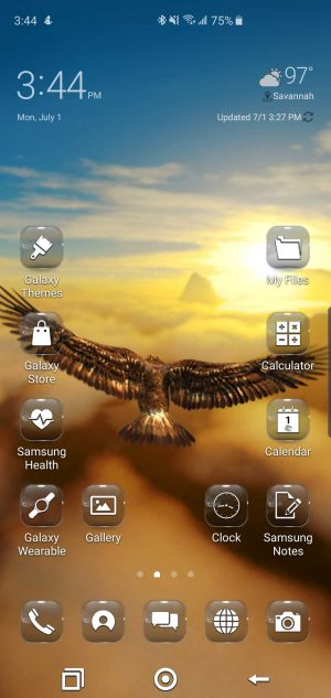 Take Flight Theme for Samsung Galaxy S10 and Galaxy Note 10