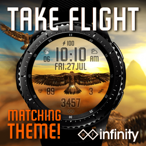 Take Flight Animated Eagle Watch Face for Samsung Galaxy Watch and Galaxy Active