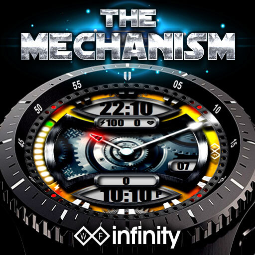 The Mechanism Watch Face for Samsung Galaxy Watch and Galaxy Active