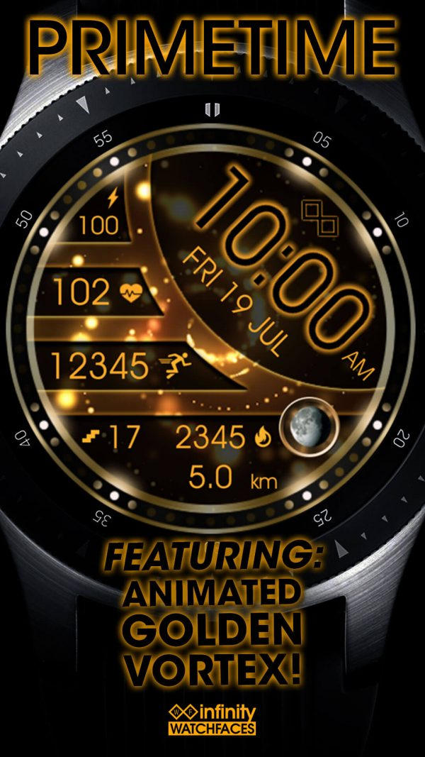 Prime Time Watch Face for Samsung Galaxy Watch and Galaxy Active