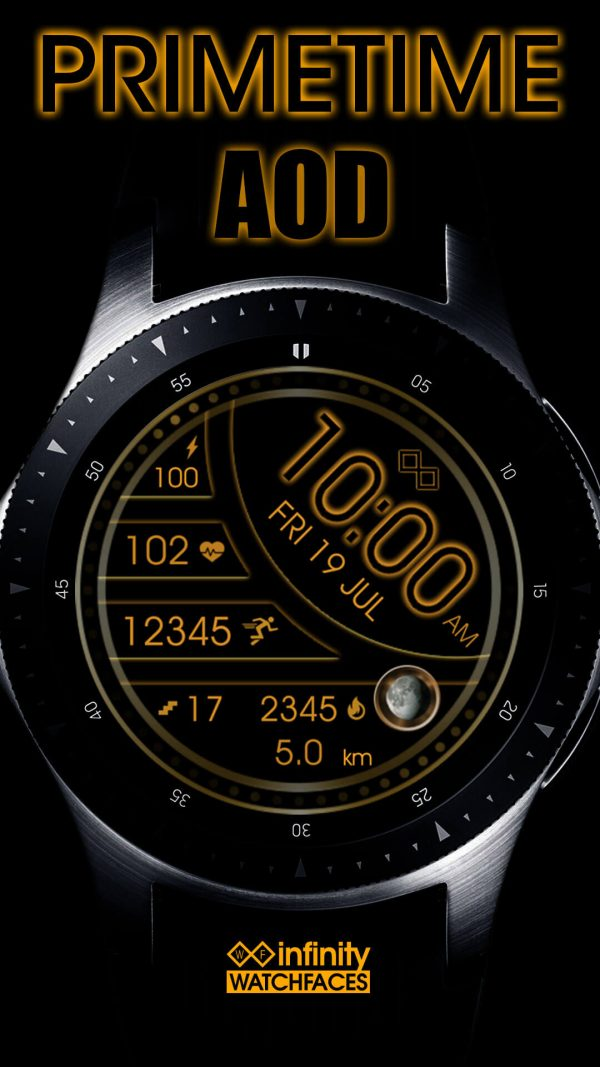 Prime Time Watch Face for Samsung Galaxy Watch and Galaxy Active AOD