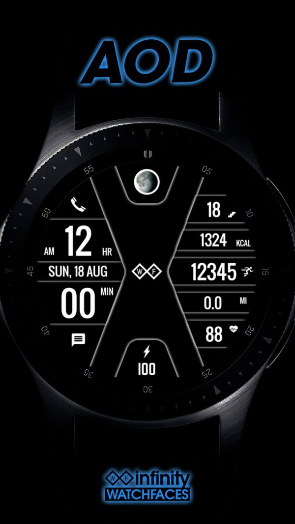 Infintiy X Watch Face for Galaxy Active and Galaxy Watch