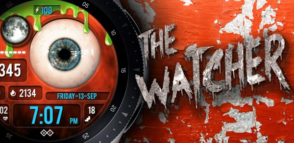 The Watcher: Halloween watch face for the Galaxy Watch and Galaxy Active