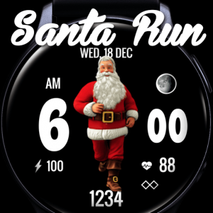 Santa Shuffle Watch Face for Samsung Galaxy Active 2 & Galaxy Watch