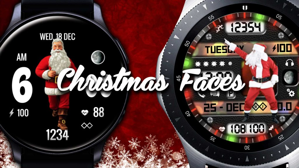 Best Christmas Watch Faces for Samsung Galaxy Active 2 & Samsung Galaxy Watch